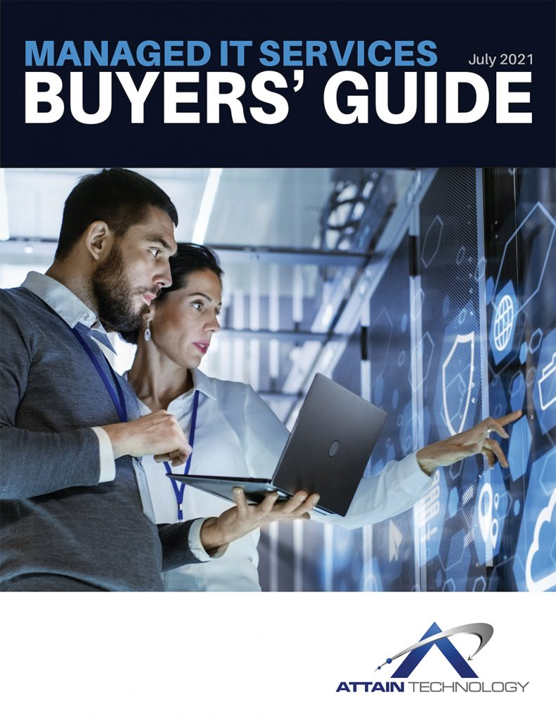 Attain Technology Buyers' Guide for Managed IT Services cover